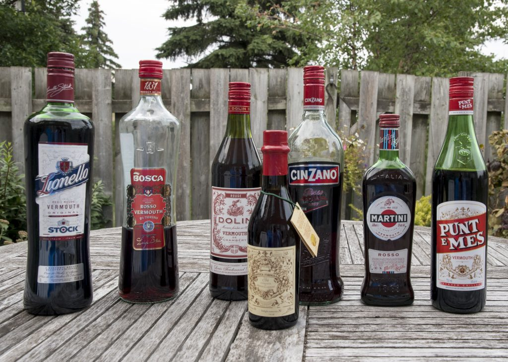 A modest selection of red vermouth.