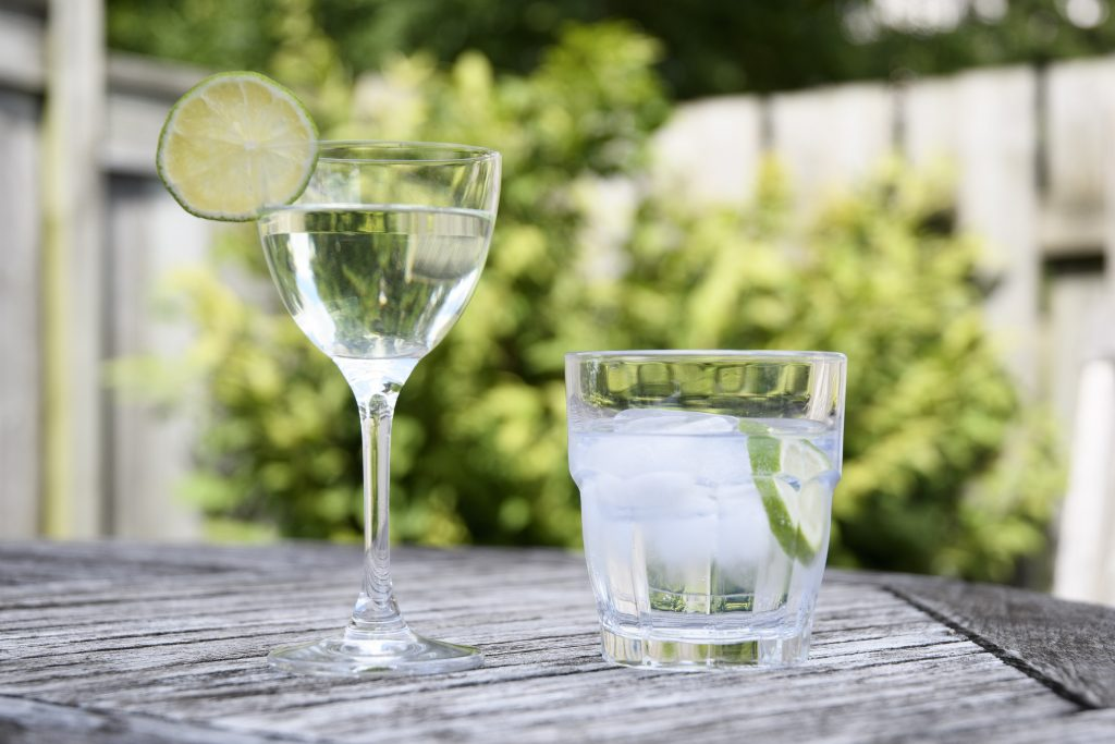 Gin cocktails: a Gimlet and a Gin and Tonic