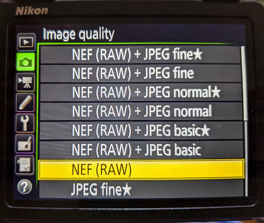 JPEG vs Raw